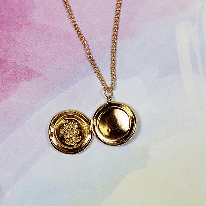Flower Locket 3 Layered Necklace