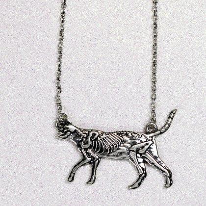 Cat Skeleton Necklace
