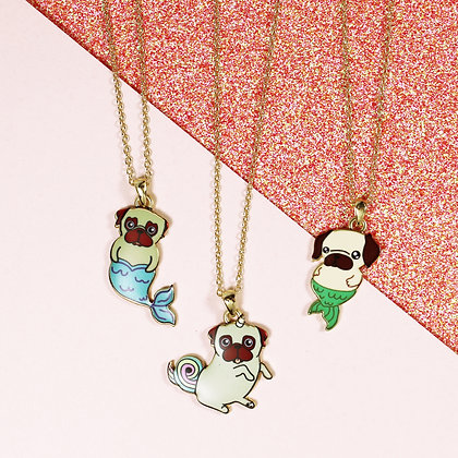 Pug-Unicorn Necklace