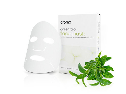 Croma Green Tea Face Masks (pack of 2)