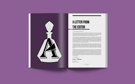 Absynthe Magazine's 'Letter from The Editor' page showcasing the old logo as seen in the April 2019 issue.  Read full magazine at: