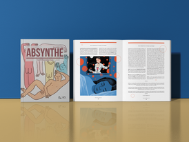Absynthe Magazine's Cover and sample page spread from the Nov 2020 Issue.  Read full magazine at: