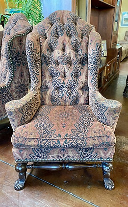 Highback Pattern Tufted Accent Chair