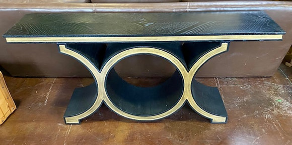 Black and Gold Old World Sofa Table