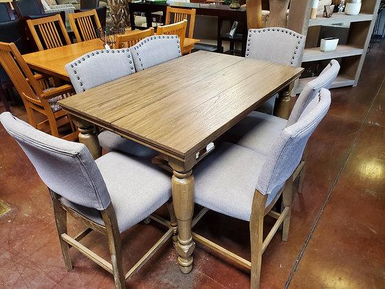 Pub Table W/6 Gray Chairs - Scottsdale