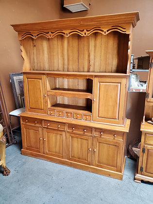 2pc Natural Wood Hutch - Scottsdale
