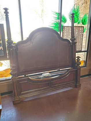 Drexel King Bed W/Leather Insert - Scottsdale - Airpark