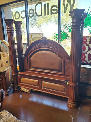 Aico King Canopy Bed W/Leather Insert - Scottsdale - Airpark