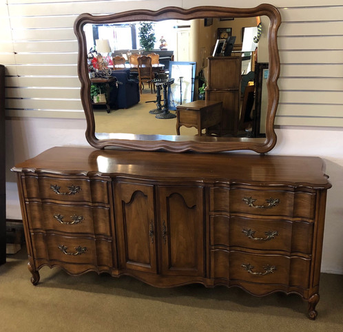 This Is A Stunning Dresser With Mirror By White Fine Furniture
