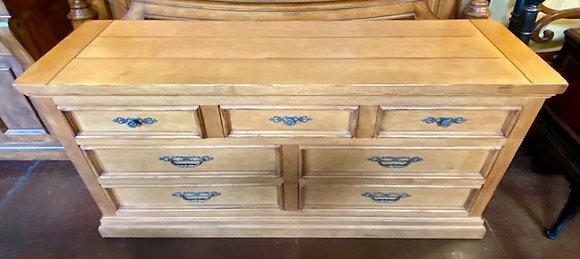 Drexel Heritage Lightwood Dresser with Mirror