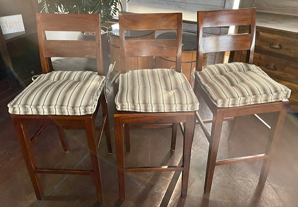 Set of 3 Crate & Barrel Basque Counter Stools - Scottsdale