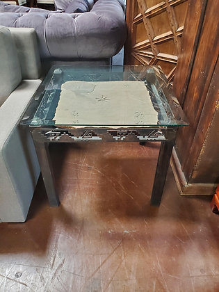 Glass Top End Table W/Flagstone - Scottsdale