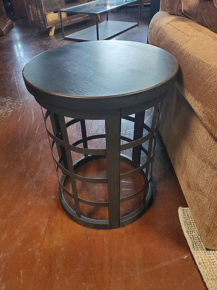 Rustic End Table Wood And Metal - Scottsdale