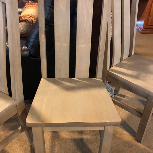 Grey Distressed Wood Chair   Phoenix