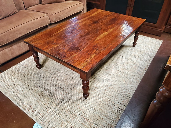 Rustic Hammered Finish Coffee Table - Scottsdale