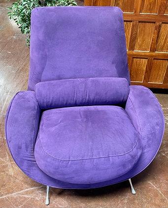 American Leather Studio Purple Modern Chair