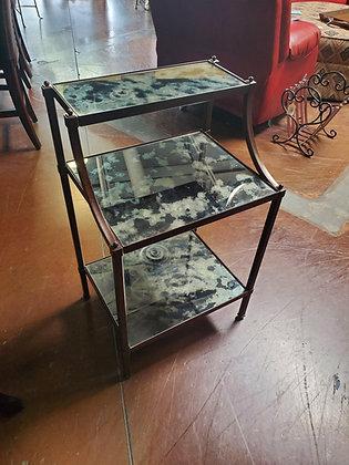 Pottery Barn Metal And Glass Nightstand - Scottsdale