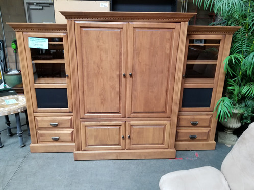 Here We Have A Beautiful Stone Creek Entertainment Center With Carved Accents Only 809 99