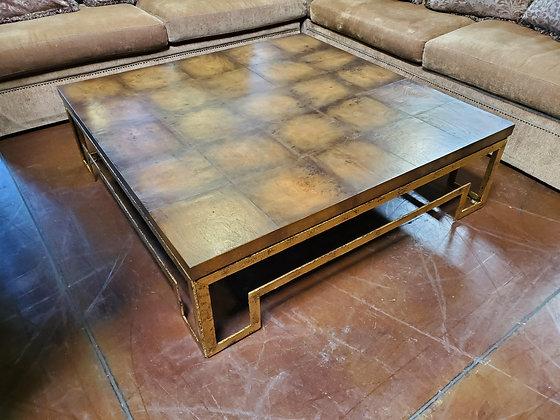 Large Wood W/Metal Legs Coffee Table - Scottsdale