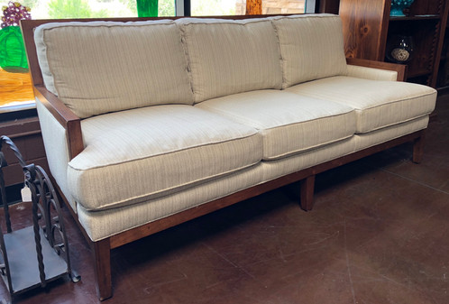 This Is A Wonderfull Modern Style Down Filled Sofa With Wood Trim