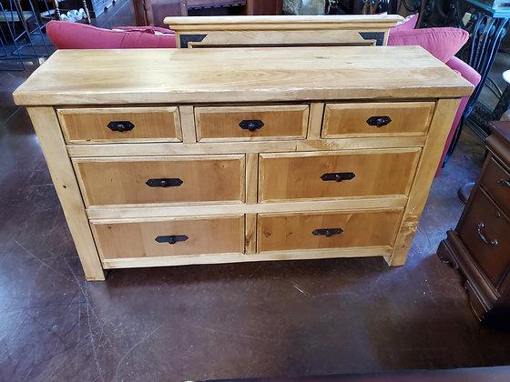 Rustic Light Wood Dresser W/Mirror - Scottsdale