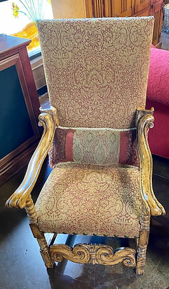 Highback Side Chair with Stud Accents
