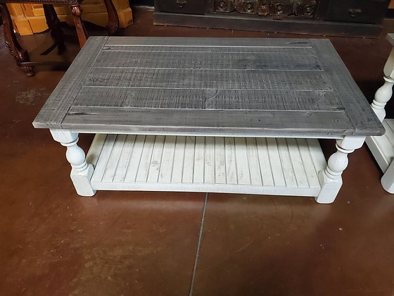 Grey And White Coffee Table - Scottsdale