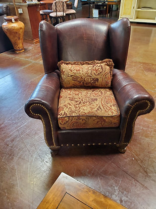 King Hickory Leather & Fabric Chair - Scottsdale