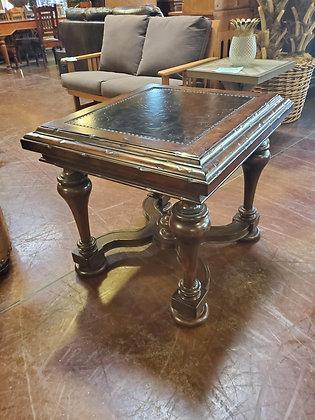 Rustic End Table W/Metal Insert - Scottsdale