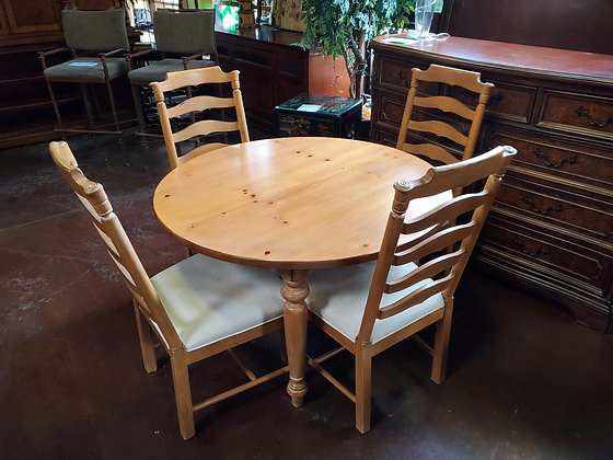 Drexel Round Dining Table W/4 Chairs- Scottsdale