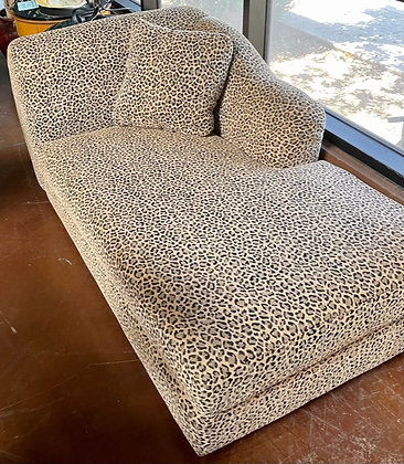 Animal Print Chaise with Pillow