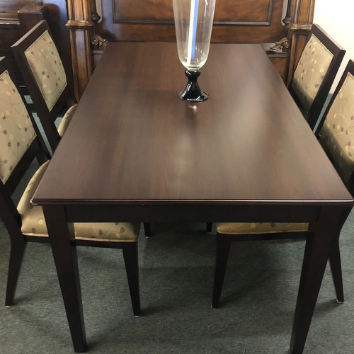 Dark Wood Dining Table With 4 Chairs   Phoenix