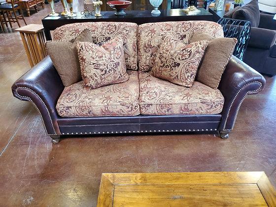 King Hickory Leather & Fabric Sofa - Scottsdale