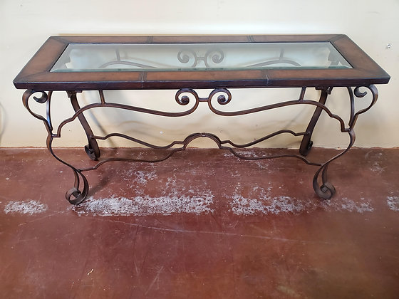 Leather Trim Sofa Table - Scottsdale