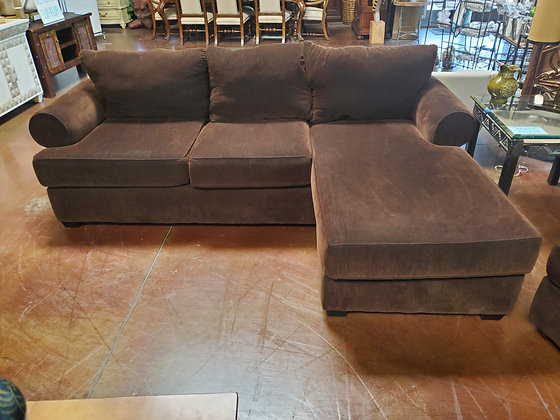 Brown Fabric Sectional - Scottsdale