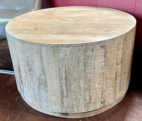 Round Whitewash Coffee Table