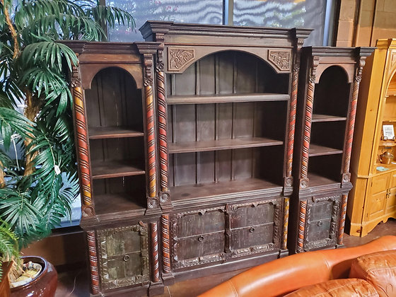 Hand Carved Rustic 3pc Bookcase - Scottsdale