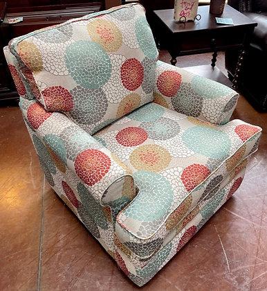 Multi-Color La Z Boy Swivel Armchair