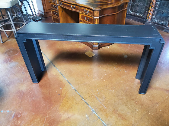 Bassett Furniture Black Sofa Table - Scottsdale
