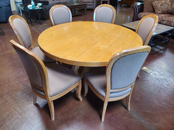 Drexel Round Dining Table W/6 Chairs - Scottsdale