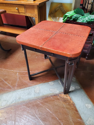 Leather Top End Table - Scottsdale