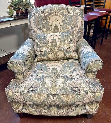 Massoud Custom Floral Pattern Armchair
