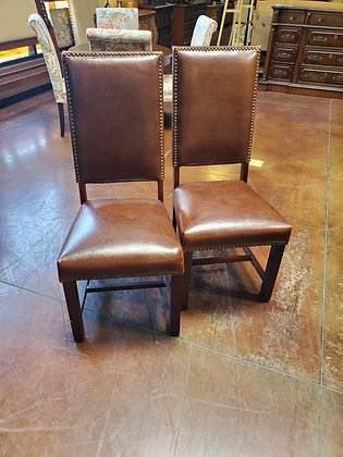Set Of 2 Leather Accent Chairs - Scottsdale