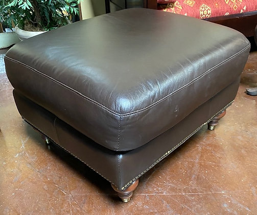 Ethan Allen Ottoman with Stud Accents