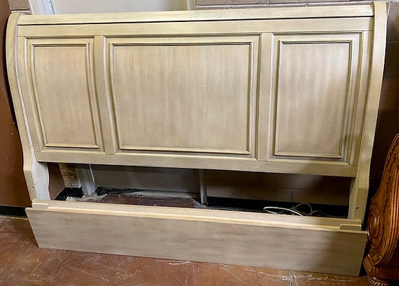 Bethel Wire Brushed Gray King Storage Bed