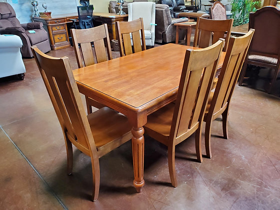 Small Wood Dining Table W/6 Chairs - Scottsdale