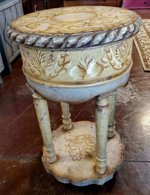 a r designers cream colored end table - Cream Colored End Tables