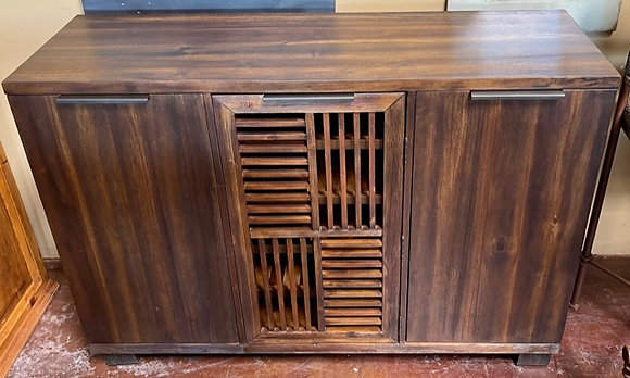 Old World Buffet with Wine Storage