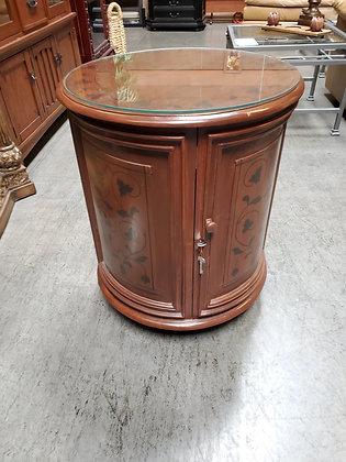 Painted Drum End Table - Scottsdale