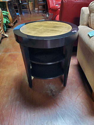 Black And Gold End Table - Scottsdale